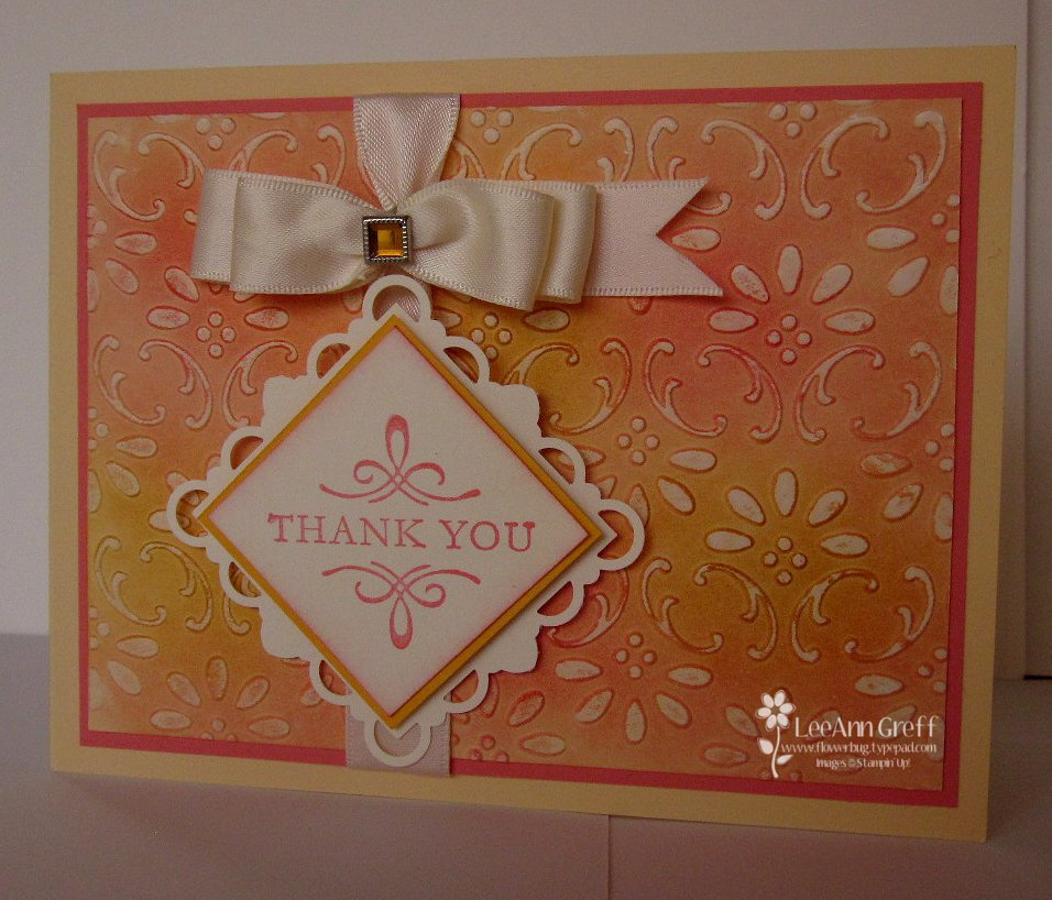 Embossed Crayon Resist card