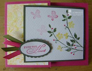 Watercolor trio card