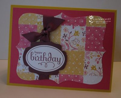 June Big Shot quilt card