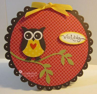 Owl scallop card