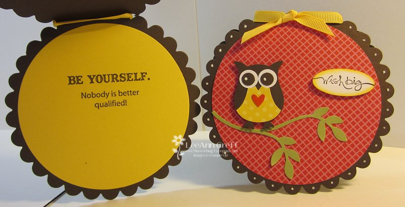 Owl punch scallop cards