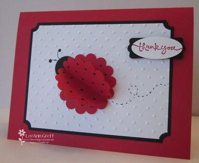 Ladybug punched card