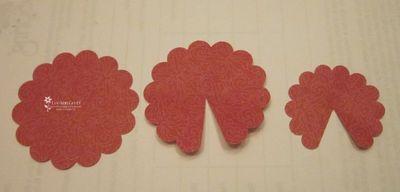 Punch art scallop flower parts