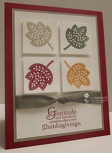 Day of Gratitude square leaves