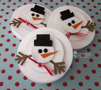 Snowman mint patties