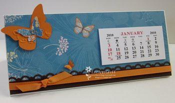 Trifold calendar butterfly
