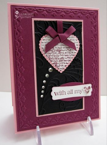 Jan card club Valentine rhinestones
