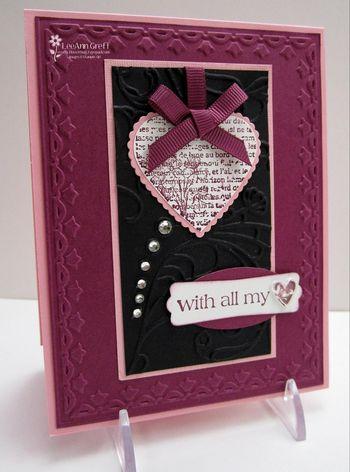 Jan card club Valentine rhinestones