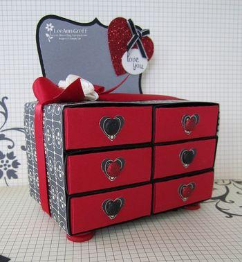 Valentines dresser close up
