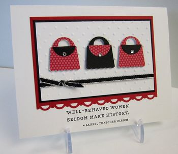 Punch art cupcake purses