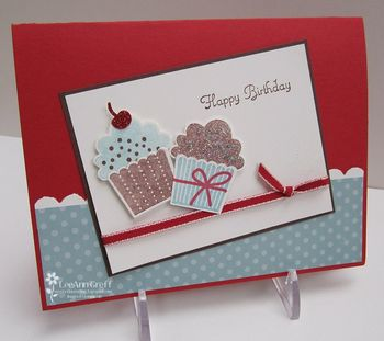 Jan card club birthday cupcake card
