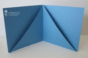 3 X 3 card holder fold