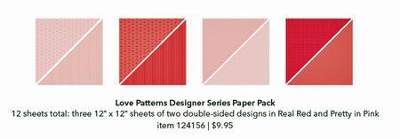 Love patterns designer paper