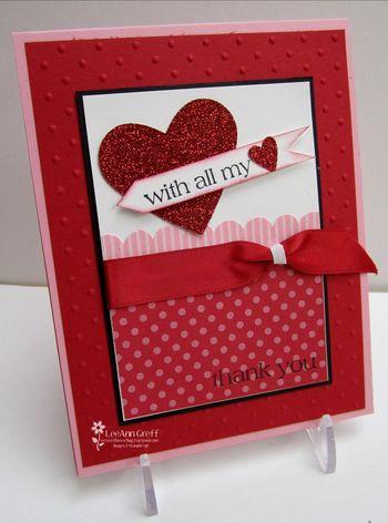 Jan Red & Pink card sample