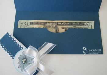 Wedding money holder inside