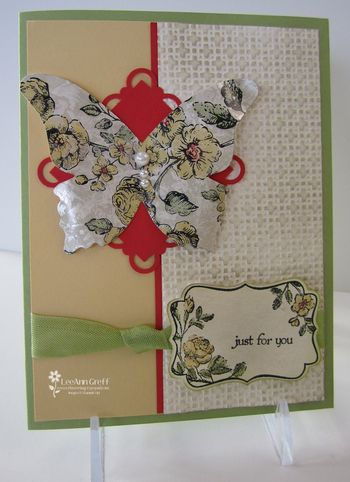 April Faux Mother of pearl card