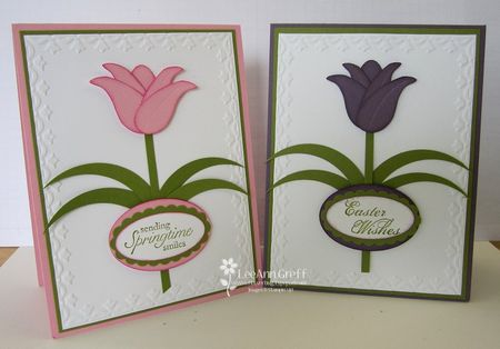 Punch art tulip cards