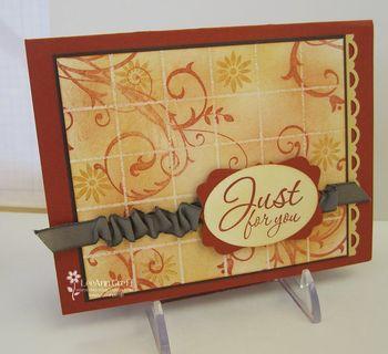 February Faux Tile card