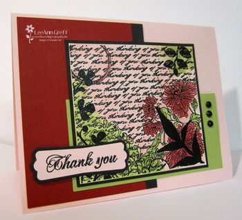 March washed emboss card
