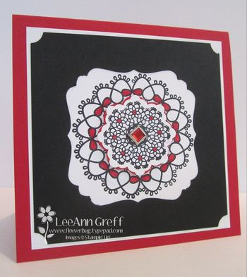 Punch art decorative label doily