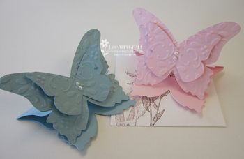 Butterfly 3 X 3 cards