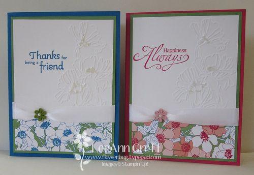 Flower garden workshop cards