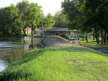Dike before flood