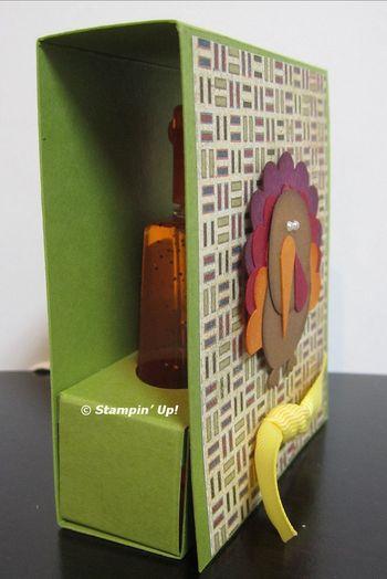 Hand sanitizer turkey box side