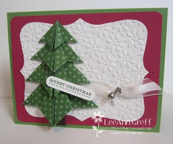 November Origami tree tech card