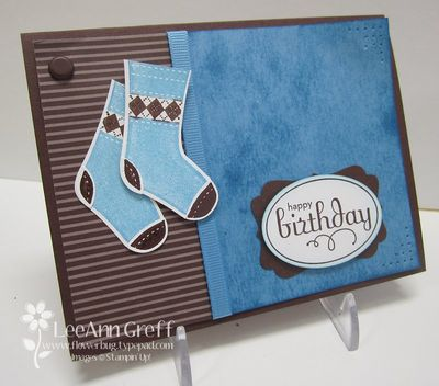 Stitched stockings masculine birthday