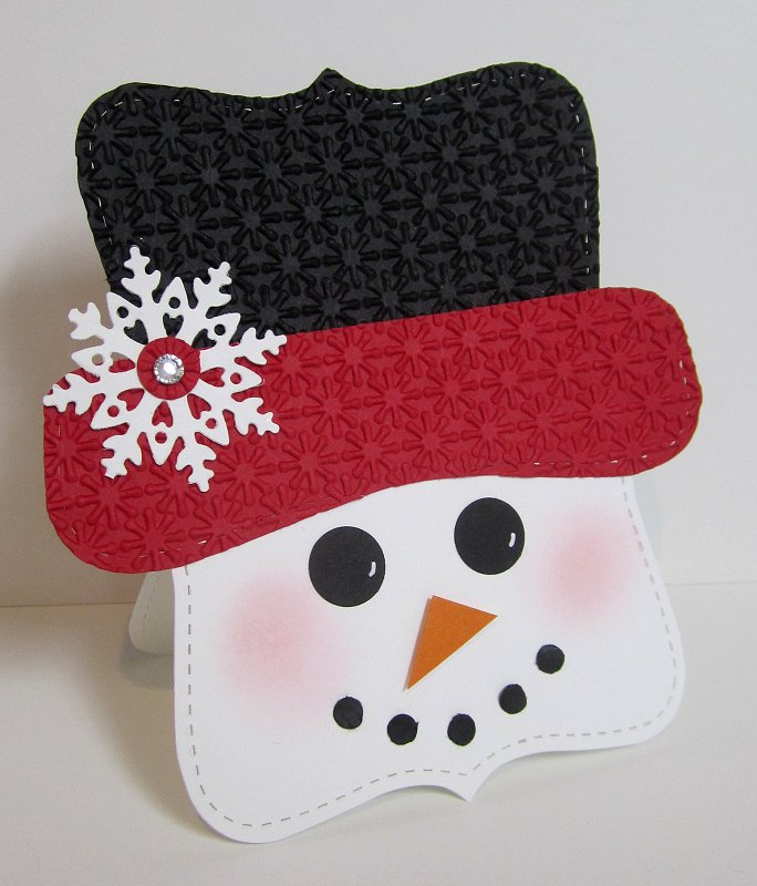Snowman Face Template Top note snowman front