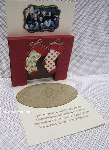 Lorri's fireplace card inside