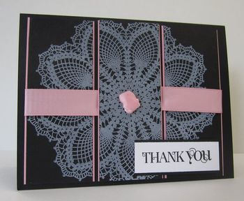 Cruise thank you doily card