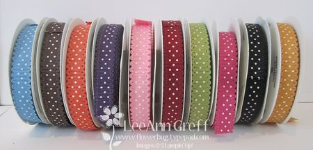 Polka dot Scallop ribbon 2011