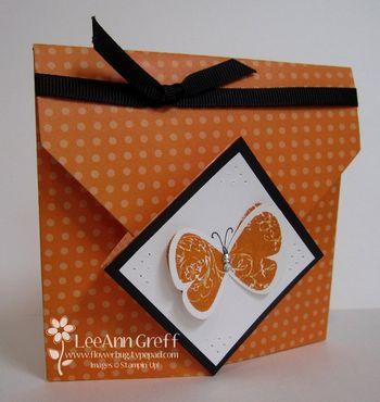 Sept origami pumpkin front
