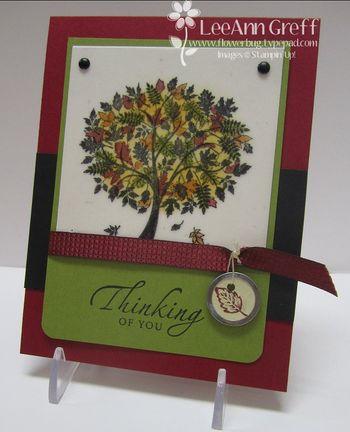 September Club tree card