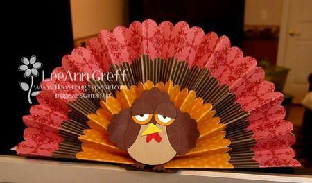 Punch art plumed turkey