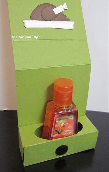 Hand sanitizer turkey box open