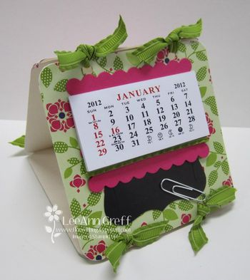 Coaster calendar cheerful treat