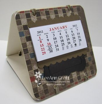 Coaster calendar well worn