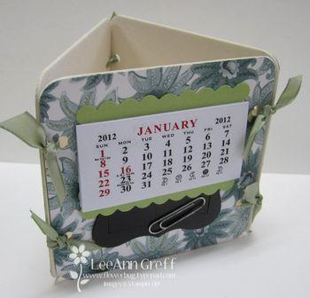 Coaster calendar paisley petals