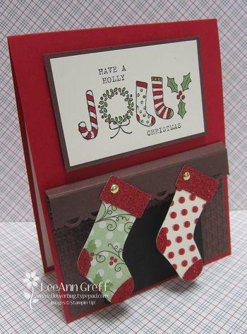 December Club fireplace card