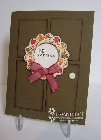 Nov Club wreath door card