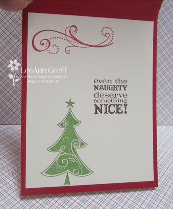 December Club fireplace card inside