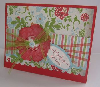 Carolyn's Blossom thank you card