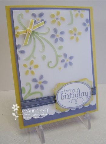 April colored vellum card
