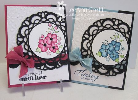 April Doily cards