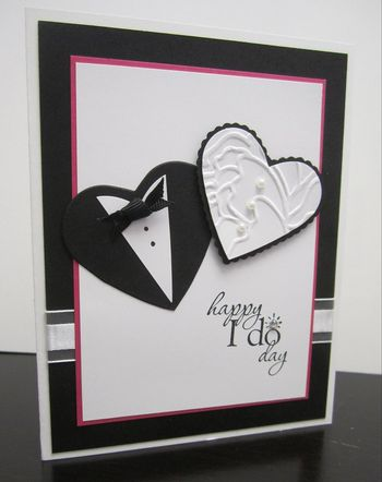 Punch art wedding card