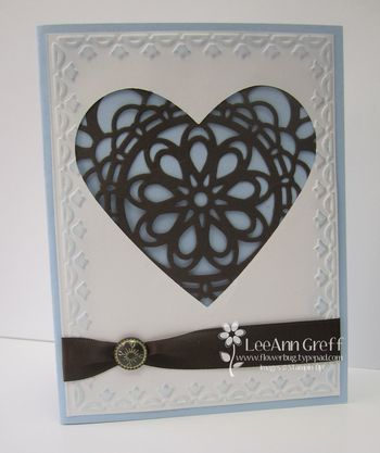 Big shot doily heart card
