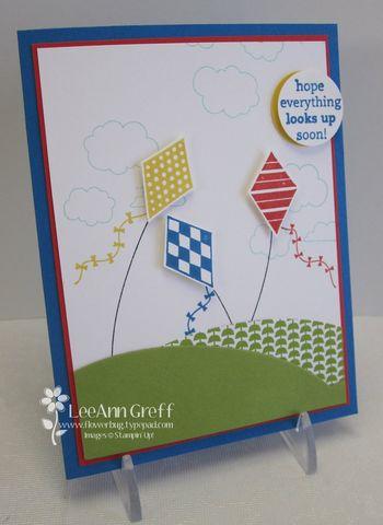 Soaring kites card